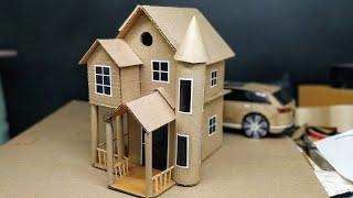 DIY Cardboard House | Easy cardboard craft house for kids