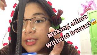 HOW TO MAKE SLIME WITHOUT BORAX ?|| (PHILIPPINES) || JanineDelaCruz
