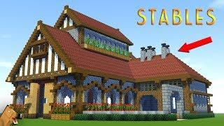 Minecraft: How to Build a LARGE SURVIVAL House Tutorial - Stable/Barn Tutorial (2018)