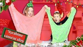 Vyrábíme vánoční sliz/ Christmas slime
