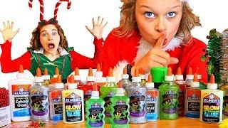 *secret* CHRISTMAS SLIME with the NORRIS NUTS Grinch slime challenge