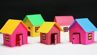 How to make Paper House -for school project - Paper Craft