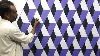3d wall painting | 3d wall texture new design ideas | 3d wall decoration effect | interior design