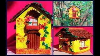House craft with paper | house craft with cardboard | kids crafts | Hater Kaj Paper
