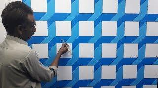 3d wall painting | 3d wall texture new design ideas | 3d wall decoration effect | interior design
