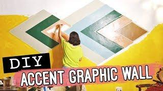 DIY Graphic Wall Paint // Budget-friendly Accent Wall // by Elle Uy