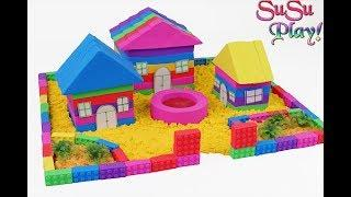 DIY How To Make Rainbow House with Kinetic Sand, Mad Mattr