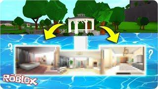 I Built A SECRET UNDERWATER Inspired House In Bloxburg! | Bloxburg Speed Build