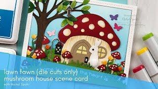 Lawn Fawn | Mushroom House Scene Card