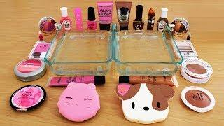 Mixing Makeup Eyeshadow Into Slime ! Pink vs Brown Special Series Part 32 Satisfying Slime Video