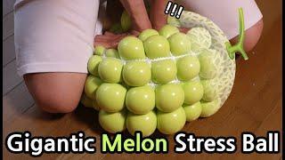 DIY Gigantic Melon Stress Ball!!! How to Make Slime CHU