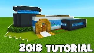 Minecraft Tutorial: How To Make A Modern House 2018