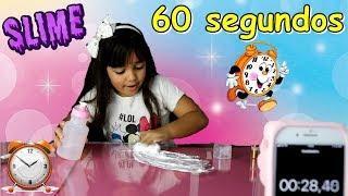 DESAFIO SLIME EM 60 SEGUNDOS! Trying to make slime in 60 seconds - EDUARDA FERRÃO