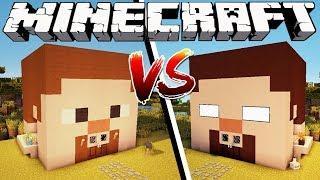 STEVE HOUSE VS HEROBRINE HOUSE - Minecraft