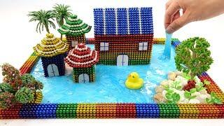 DIY How To Make Beautiful Villa House From Magnetic Balls (ASMR) ???? Surprise Balls Video 4K