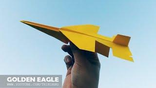 COOL PAPER JET- How to make a Paper Airplane that Flies | F-17 Golden Eagle
