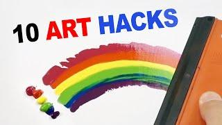 10 Art Hacks Painting Techniques