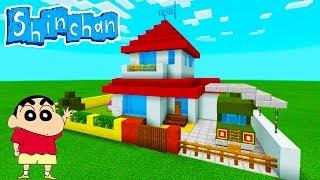 "Minecraft Tutorial: How To Make Shin Chans House ""Crayon Shin-chan"""