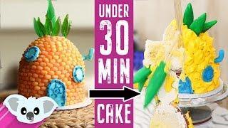 DISASTER 30 Minute Spongebob House Cake Challenge | Cake Art | Koalipops