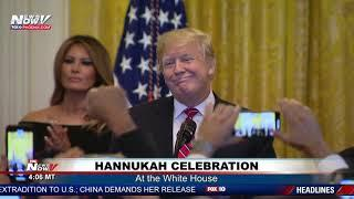 HANUKKAH CELEBRATION: Pres. Trump, First Lady Participate in White House Ceremony