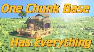 How to Make a One Chunk Base in Minecraft: Minecraft base Tutorial | Easy Minecraft lets Build
