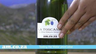 Waterproof Bottle Labels on Wine Bottle Demonstrated by Label Paper and V Auto Label Cutting Machine