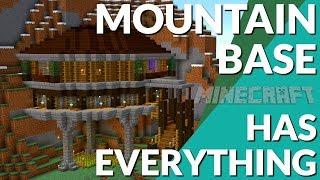 Minecraft: How to Make a Mountain House in Minecraft | Minecraft Base Tutorial (Avomance 2019)