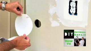 Easiest way to repair a drywall hole ever! Contractor tips- Diy tricks