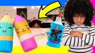 DIY Toy School Supplies ! Learn Toy Hacks, Slime & Crafts | Sneak Prank