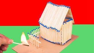 How to Make and Burn a Match House