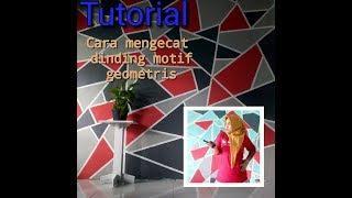 How to paint walls geometric motifs (Cara mengecat dinding motif geometris)