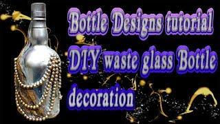 How To DIY wine bottle home decoration idea  | Empty wine bottle decoration ideas