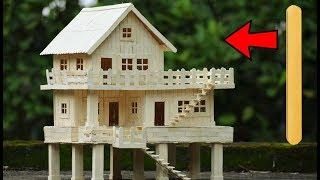 How to Make Popsicle Stick House || DIY Craft Idea