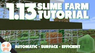 1.13 SLIME FARM TUTORIAL   Automatic, Efficient, Surface, Java & Bedrock Edition