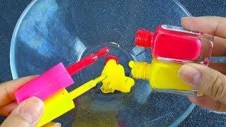 Color Nail Polish Slime, Easy to Make, Without Glue, Without Borax nails