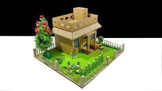 How To Make Amazing Modern Architechtural Dream House Model Using Cardboard DIY Cardboard Dream Hous