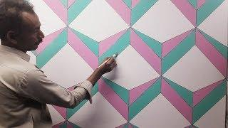 3d wall decoration effect | 3d wall texture new design effect | 3d wall painting | interior design