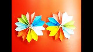 Origami Easy Paper Flower : How To Make a Flower With Color Paper Easy – Paper flower folding