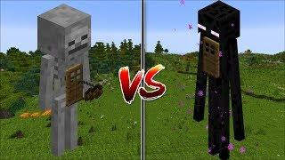 Minecraft SKELETON HOUSE VS ENDERMAN HOUSE / MAKE MOB HOUSES YOUR HOME !! Minecraft