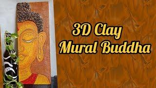 3D Clay Mural Buddha l DIY wall decor l Buddha texture painting l #Craftarena