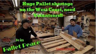 West Coast Hit with a Huge Pallet Shortage, Please Help!!