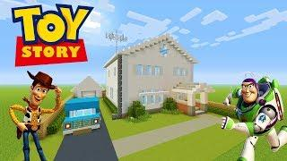 "Minecraft Tutorial: How To Make Andys House From Toy Story ""Toy Story 4"""