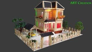 Building Popsicle Stick Mansion House - Popsicle Garden Villa - Architecture