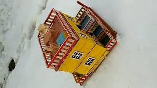 Buiding a Small and Beautiful House by using Popsicle Stick |PC Creation.