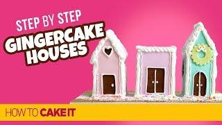 How To Make EASY Gingerbread House Cakes by Cat Dela Rama | How To Cake It Step By Step