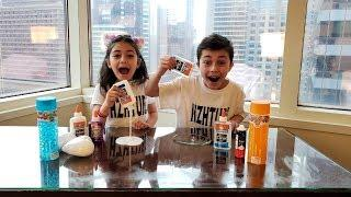 Making Slime in our Hotel Room! kids fun video