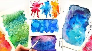 Top-10 Watercolor Techniques Ideas - Painting Tutorial For Beginners  DIY Textures For Lettering