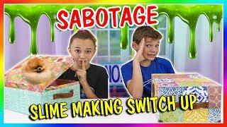 MYSTERY BOX SLIME MAKING SABOTAGE! | We Are The Davises