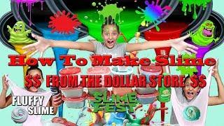 How To Make Slime  FROM THE DOLLAR STORE