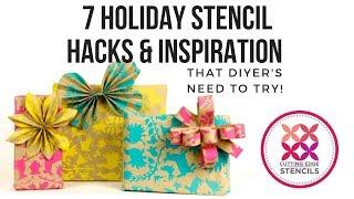 Seven Stenciling Ideas For The Perfect Holiday Decor!